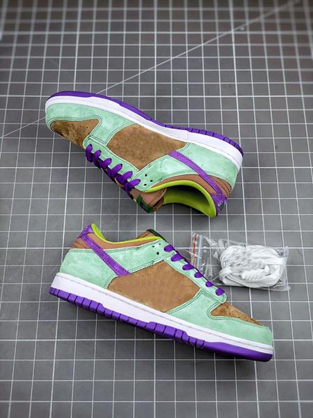best selling New SB Low Ceramic Dunk Purple Brown Green Skateboard Shoes Men Women Dunks Sports Sneakers Skateboarding Shoe Mens Trainers Chaussures