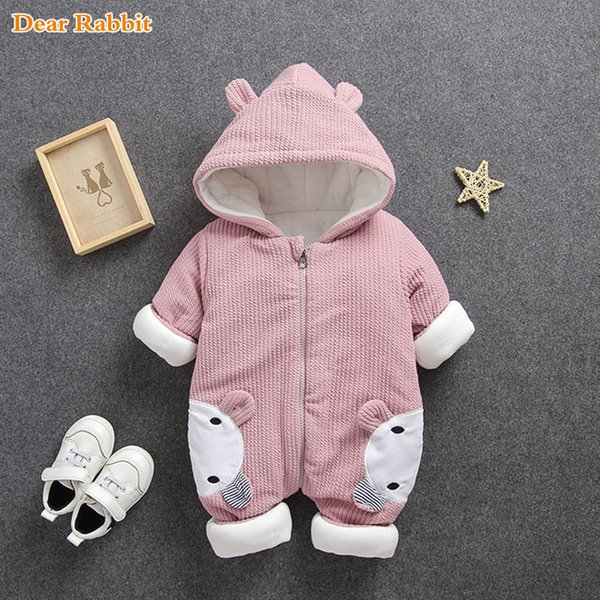 best selling 2020 New Baby rompers Overalls Clothes Winter Boy Girl Garment Thicken Warm Pure Cotton Outerwear coat jacket kids Snow Wear Q1123