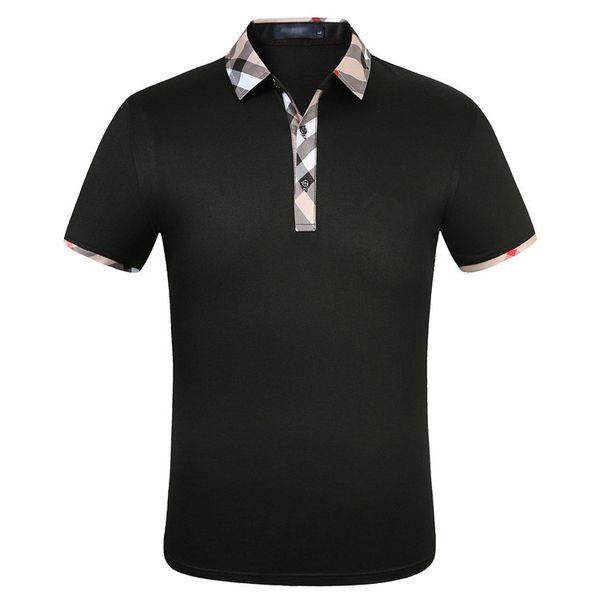 best selling Fashion Designer Shirts Men short sleeve T-shirt original single Lapel shirt men's jacket sportswear jogging suit NO.PPS