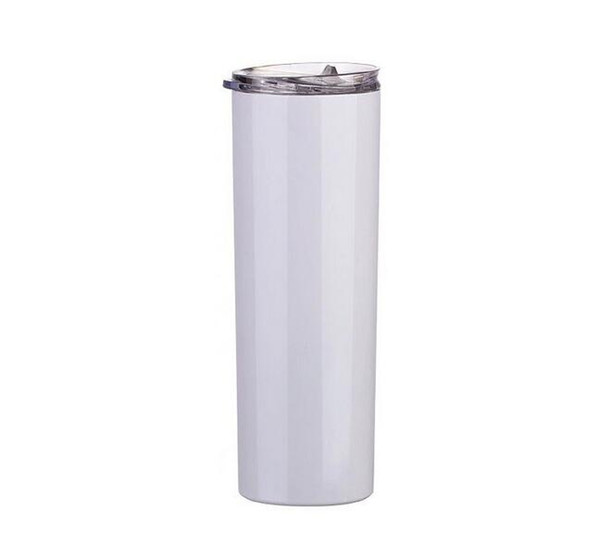 best selling Sublimation Straight Tumblers Blank White Cup with Lid Straw Paintcoat Stainless Steel Drinking Cup Vacuum Insulated Mug LSK1621