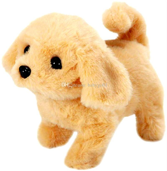 Kids toy Realistic Dog Lucky Electric Smart Walking Robot Dog Cute Stuffed Animal Dog Plush Toy Gifts for Kids