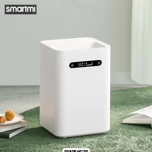 top popular Xiaomi Smartmi Evaporation Air Humidifier 2 4L Large Capacity 99% Antibacterial Smart Screen Display For Mi Home 2021