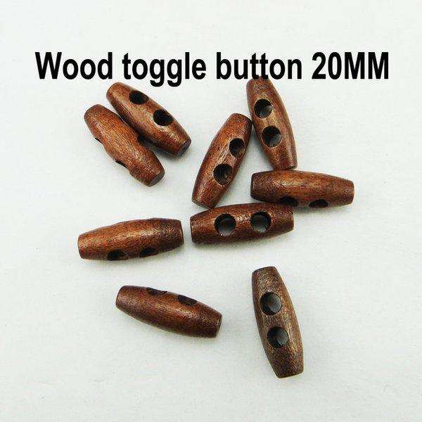 best selling 500PCS 20MM brown wooden horn toggle clothes sewing button clothing accessory coat buttons WHB-085