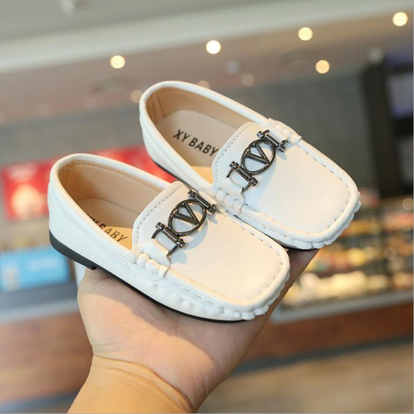 best selling Soft PU Leather Children Shoes Girls Moccasins Flat Shoes Spring Summer Kids Shoes Slip-on Boys Loafers 21-30
