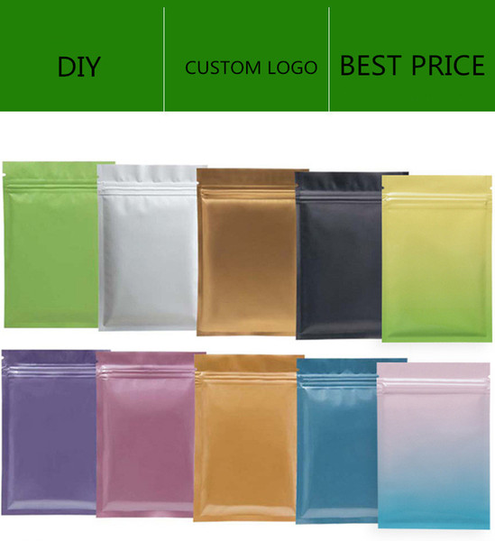 top popular Matt color Resealable Zip Mylar Bag Food Storage Aluminum Foil Bags plastic Smell Proof bag in stock 2021