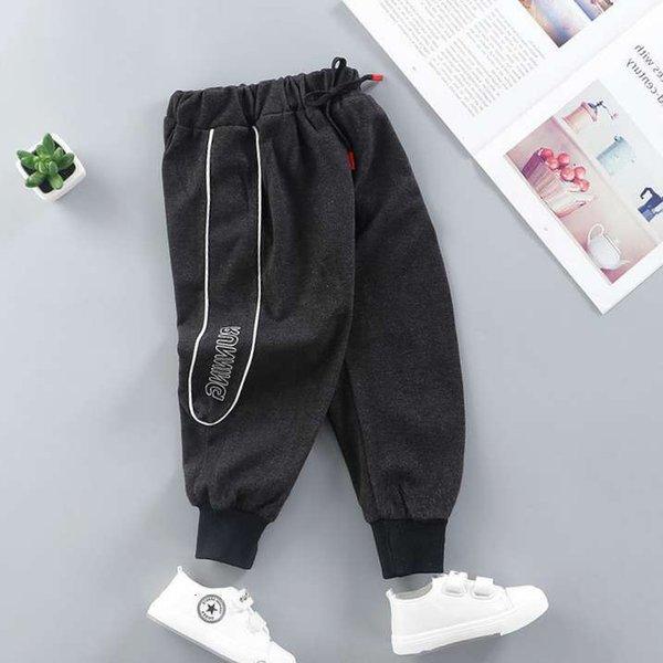Pantalon décontracté gris noir