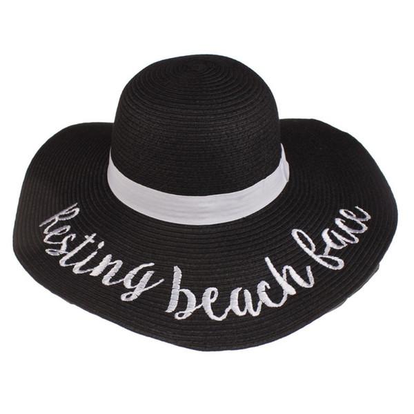 Resting beach face-black