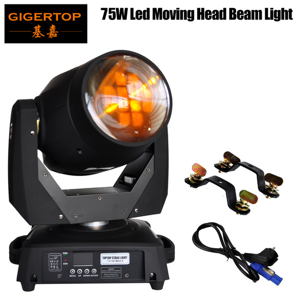 best selling Freeshipping 8 Facet Prism 75W Led Moving Light New Ultra Bright Beam Led Moving Head Light Sharpy Beam Led Stage Light TIPTOP