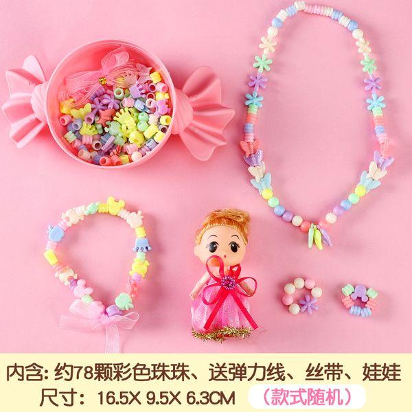 Caixa de doces diy grânulos colar cor doll