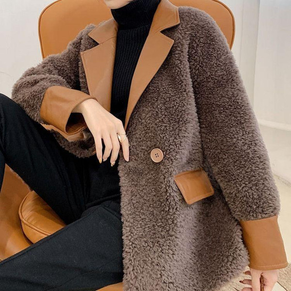 new fashion winter women coat autumn fluffy plush winter faux fur jacket coat women slim jacket outwear, Black