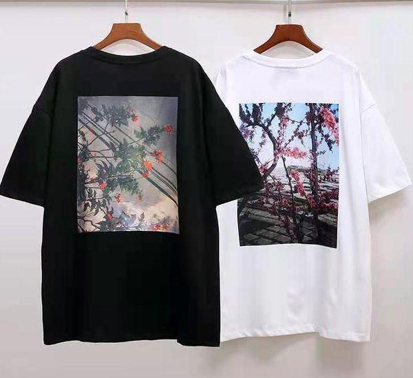 top popular 20ss T Shirt short sleeve round neck blouses sweatshirt summer street Hip hop sleeved top Letter 100% Cotton Men and women Plus size s-xl 2021