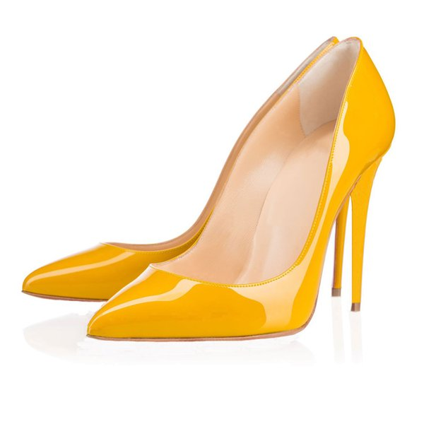 14 Pointed Toe Leather Yellow