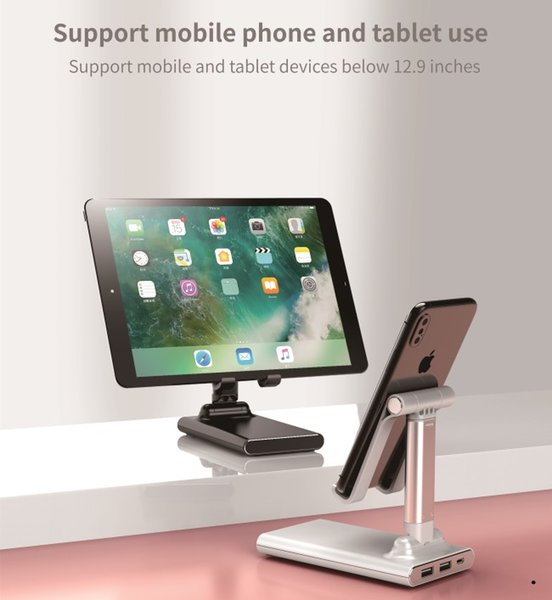top popular Tablets & Cell Phone Holder Mobile Phone Stand Adjusted Height & Angle With 6000mAh Power Bank Support Max 12.9 Inch Device 2021