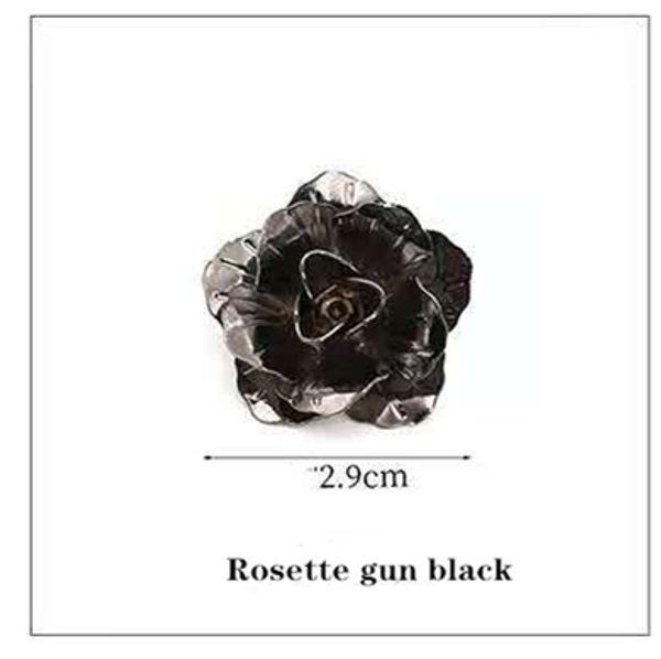 Roseta negro pistola