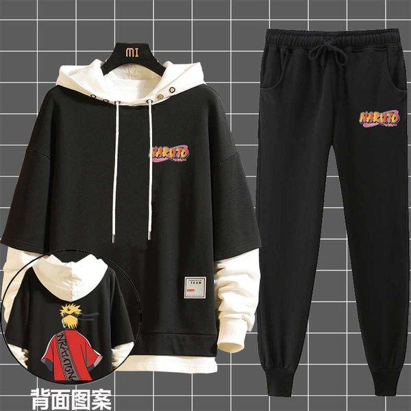 Siete generaciones Naruto Black + Negro delgado