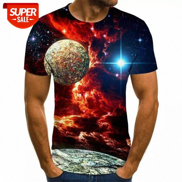 best selling 2020 New Starry Sky 3d Printed t shirt Men Summer Casual Man's T-shirt Tops Tees Funny tshirt Streetwear Male size XXS-6X #0r1J