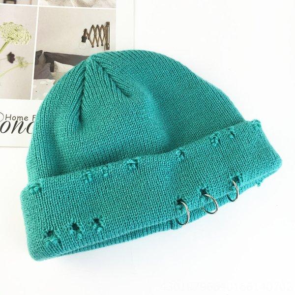 Chapeau tricoté tricoté à trois anneaux