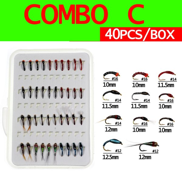 Set c 40pc Flies