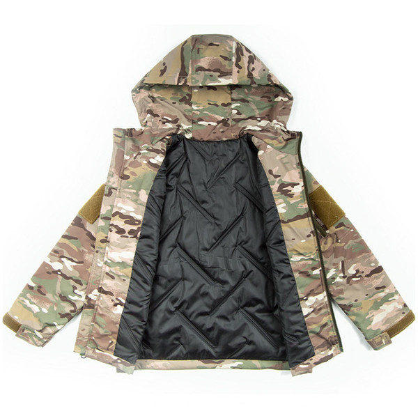 top popular Outdoor Sports Airsoft Gear Jungle Hunting Woodland Shooting Coat Combat Children Clothing Camouflage Kid Child Wadded Jacket P05-225 2021