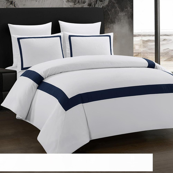 top popular Bed Linen Set Geometric Bedding Set Stitching Comforter Bedding Double Bed Bedding Sets Nordic Style 2021