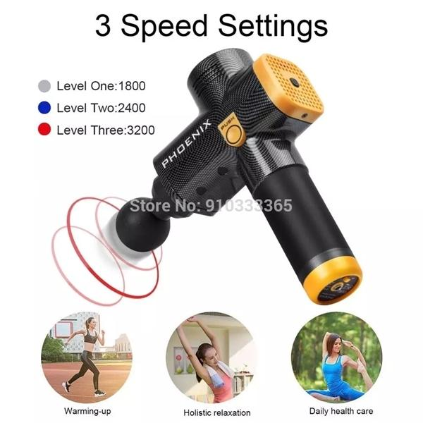 best selling Professional Tool Body Exercising Fascia Gun Trainning Pain Relief Muscle Relaxation Portable High Frequency Massage Gun Z1209