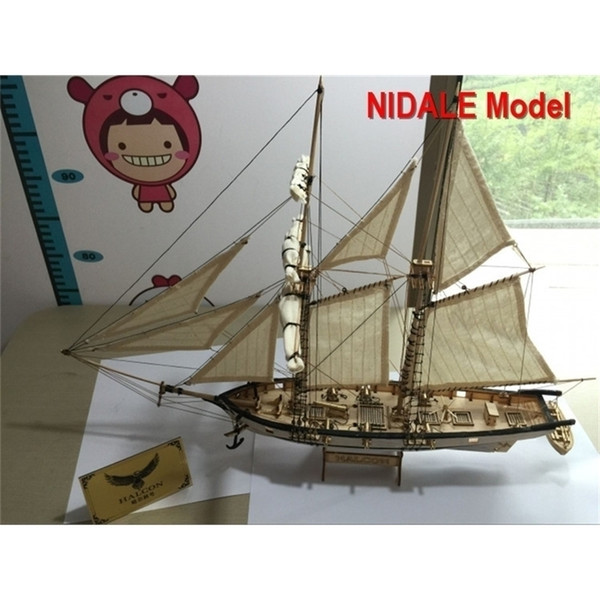 best selling New version Hobby ship model Kits Halcon 1840 CNC brass cannons luxurious sailboat model Offer English Instruction Y200428