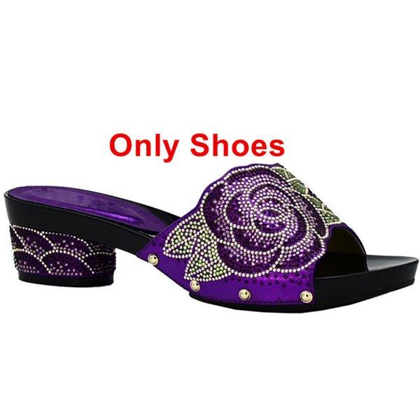 Zapatos de solo púrpura