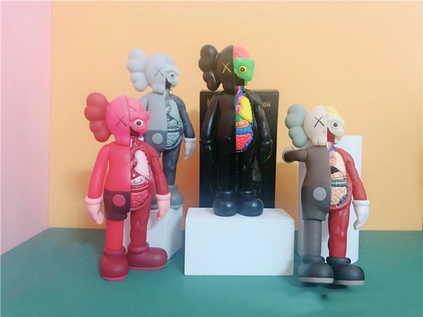 top popular 20CM 0.25KG Originalfake Kaws 8inches Dissected Companion Original Box Action Figure model decorations toys gift 2021