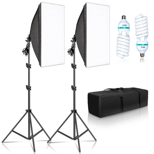 Mish Photo Studio Accessori Fotografia 50x70cm Softbox Lighting Kit Sistema di illuminazione professionale con E27 Bulbi fotografici Photo Studi ...