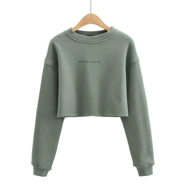 Maglione verde grigio.