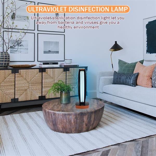 best selling 38W 110V Wireless Remote Control Ultraviolet Sterilization Lamp Blue Light Power Cord 1.5 Meters Long Black Multifunctional lights