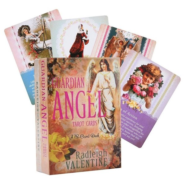 best selling 78 Sheets Guardian Angel Tarot Cards Guidance Divination Fate Board Game Card Game For Women English Oracle Cards Deck Game Card Y200421