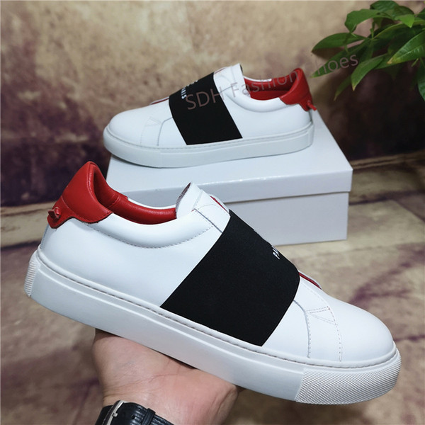 top popular Top Quality Mens Womens Leather Casual Shoes Cheap Best Fashion White Leather Shoes Flat Outdoors Daily Dress Party Shoes With Box Size36-45 2021