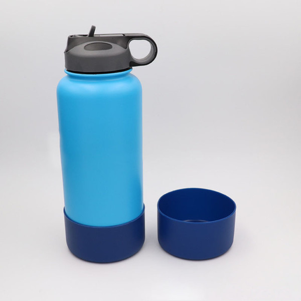 best selling Water Bottle Anti-Slip Bottom Mats Silicone Protective Sleeve Cover Cap For Vacuum Insulated Stainless Steel Travel Mug Tumbler