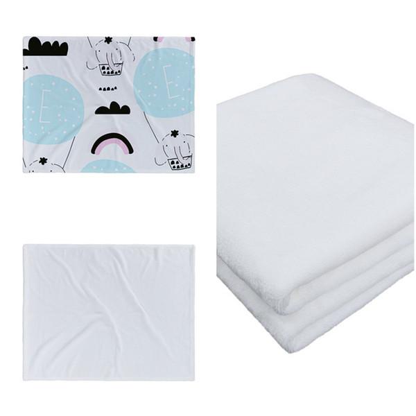 best selling Wholesale! Sublimation Baby Blanket White Blank Soogan Carpets Theramal Transfer Printing Quilts Customized Sublimation Blankets A12