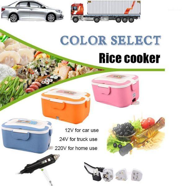 top popular 1.5L 12V 24V Mini Rice Cooker Car Truck Soup Porridge Cooking Machine Steamer Electric Heating Lunch Box Meal Heater Warmer1 2021