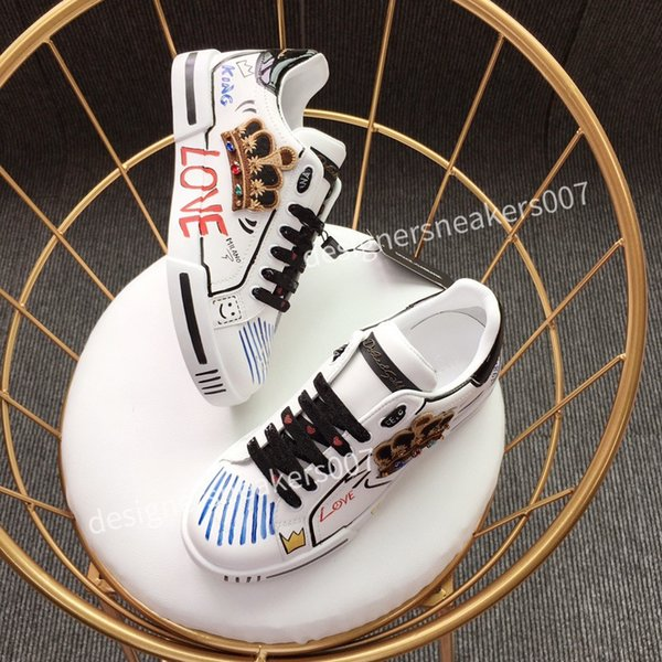 2021new Man Fashion Women Shoes Men's Leather Lace Up Platform Oversized Sole Sneakers White Black Casual hc190903