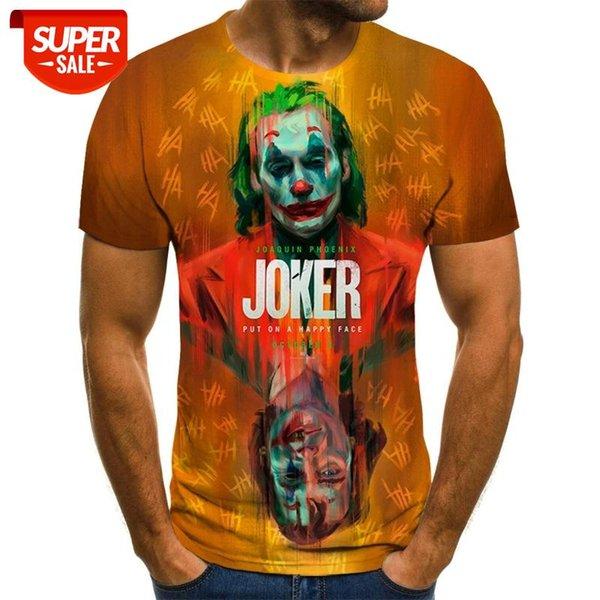 best selling 2020 New T Shirt For Men And Women, 3D Clown Print T-shirt, Joker Casual T Shirt, Boys And Girls Short Sleeve Shirt, Cool Tees #FR25