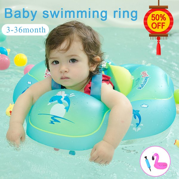 best selling Baby Inflatable PVC Circle for Child Newborns Pool Bathing Swimming Wheel Arm Ring Q1217