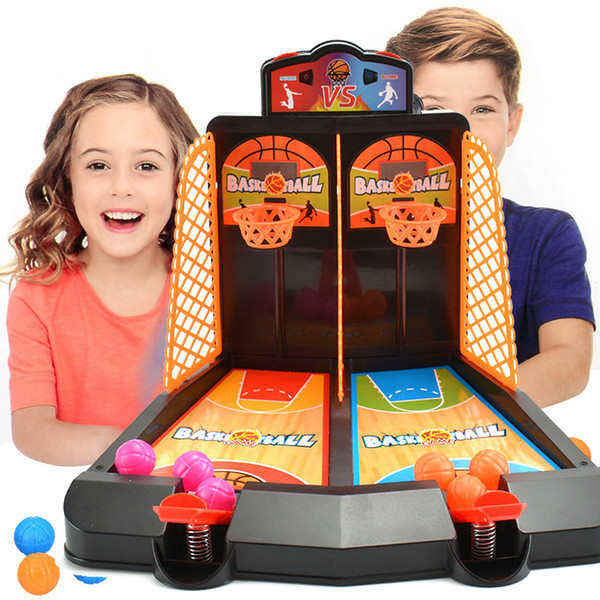 top popular Table Board Game Finger Ejection Basketball Court Educational Parent Child Interactive Kid Mini Bounce Shooting Toy 2021