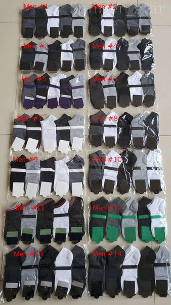 top popular Fashion Mens and Womens Four Seasons Pure Cotton Ankle Short Socks Breathable Outdoor Leisure 5 Colors Business Socks 2021