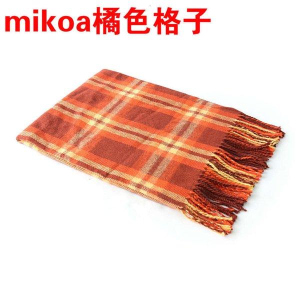 Cheque de naranja-180cm + 10cmx2