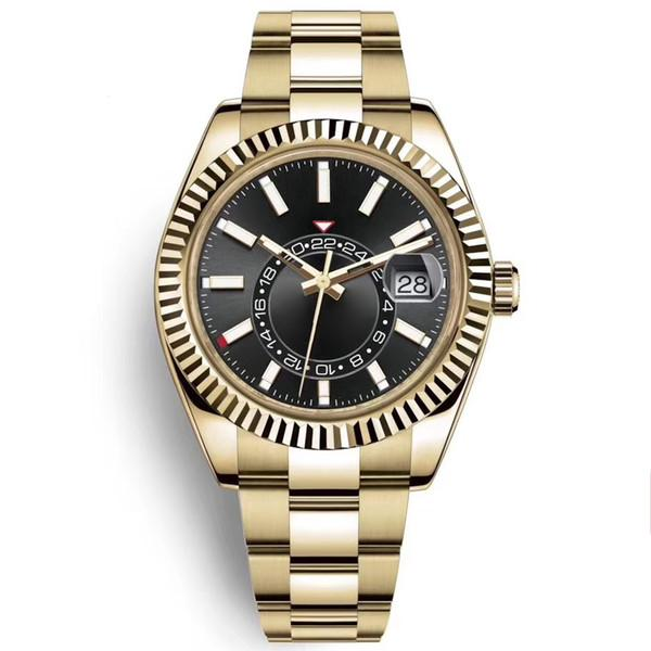 best selling Men SKY Watch High Quality Automatic Mechanical Fashion Business 2813 movement Watches Stainless Steel 40mm Luminous Waterproof Wristwatch