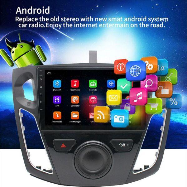 top popular 9 Inch 2.5D Screen Quad Core 1G Running 16G Memory Car Radio GPS Touch Navigator FM Radio Mirror Link WIFI Bluetooth Steering 2021