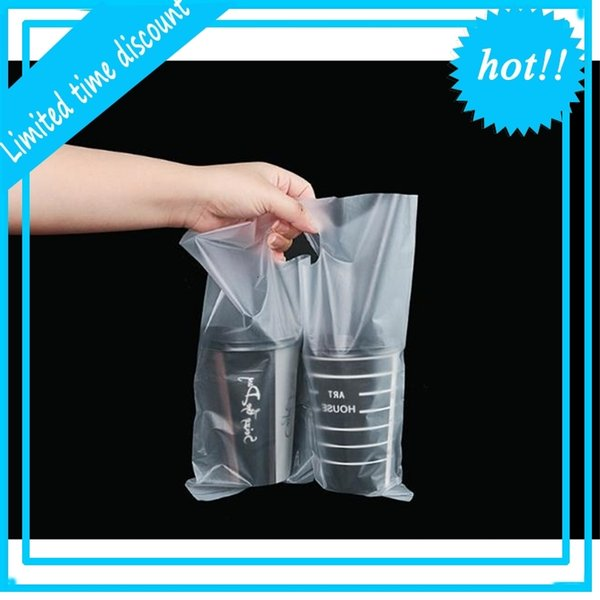 best selling Disposable single double cup portable beverage packaging juice takeaway plastic bag SN2774