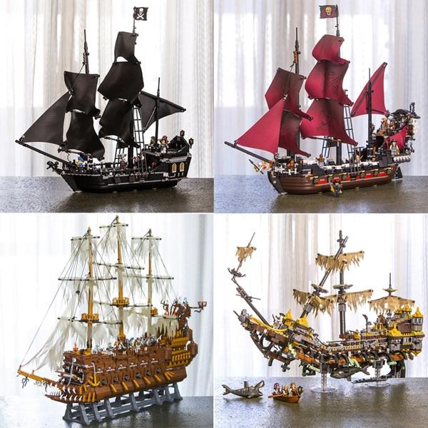top popular In Stock 16002 16006 16009 16016 16042 22001 Movie Series Pirates Of Caribbean Ships Models Toys Building Blocks Bricks 70618 Y200428 2021