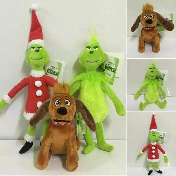 best selling DHL Ship, Animal Christmas Grinch Max Dog Plush Doll Soft Toy Stuffed Cute Cartoon Plush Dolls Toys For Children Christmas Gifts FY4354