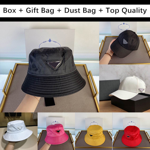 best selling For Gift With Box Gift Bag Dust Mens Women Bag Bucket Hats Baseball Cap Golf Hat Snapback Beanie Skull Caps Stingy Brim Top Quality