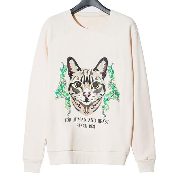 top popular Fashion Stylist Mens Sweatshirt Jacket 2020 Winter Top Quality Super Soft Sweashirts Men Women Pullover Long Sleeve Hip Hop Cat Sweat Shirt 2021