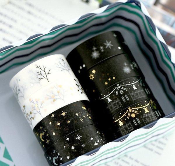 top popular Jonvon Satone Masking Tape Japanese Bronzing Ironing Silver Decoration Labels Diary Hand Book Washi Scrapb bbyRWH xmh_home 2021